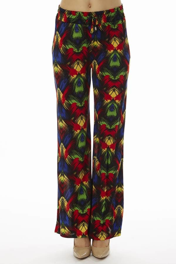 Vibrant Tropical Night Palazzo Pants