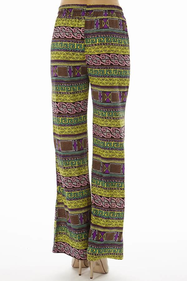 Vibrant Tribal Wide Leg Palazzo's