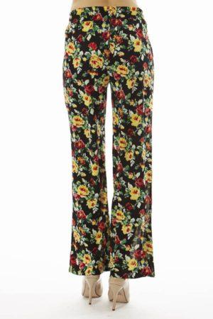 Flared Floral Wide Leg Pants