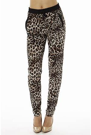 Printed Classic Leopard Joggers