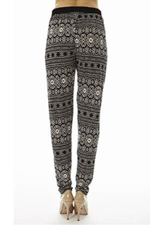 High Waisted Tribal Joggers