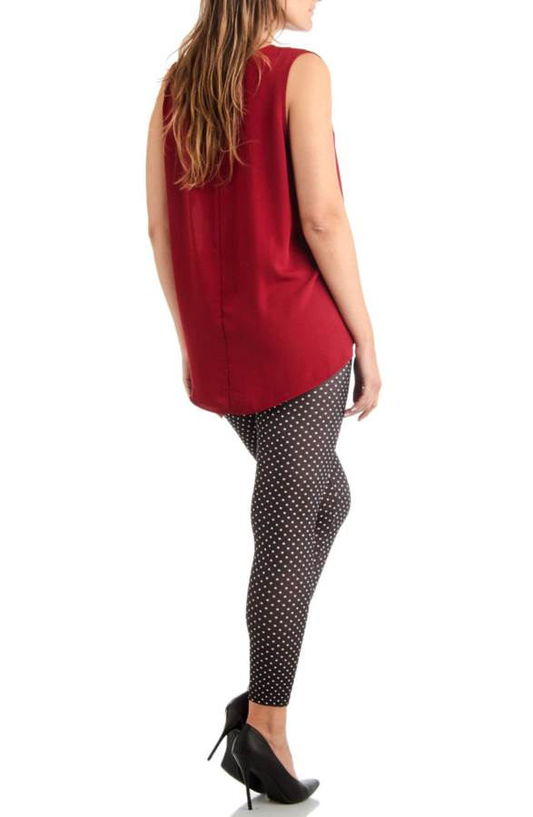 Footless Black And White Polka Dot Plus Size Leggings ...