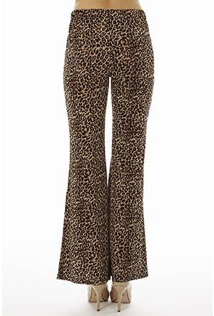 Leopard Print Wide Leg Bell Bottoms
