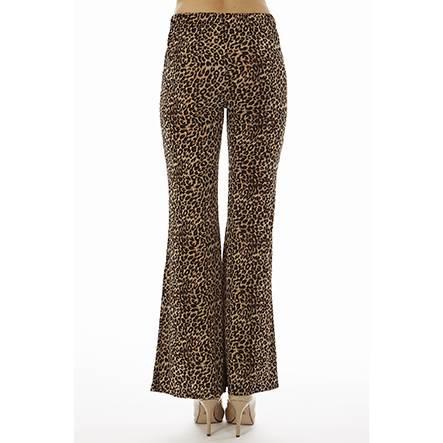Leopard Print Wide Leg Bell Bottoms