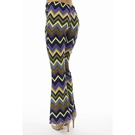 Purple Zig-Zag Bell Bottoms