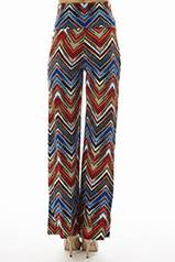Red Zig-Zag High Waisted Bell Bottom Pants