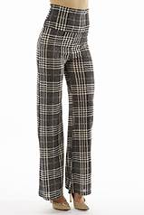 High Waisted Plaid Bell Bottom's