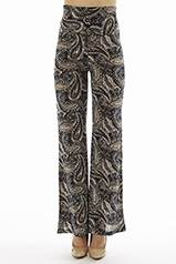 High Waisted Paisley Print Bell Bottoms