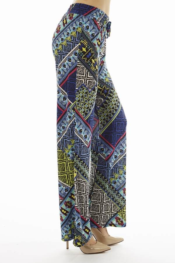 Tribal Vibrant Patch Print Palazzo's