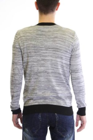 Midnight Grey Melange V Neck Cardigan