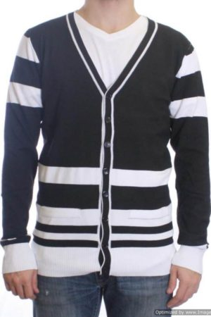 Black/White Varsity Cardigan