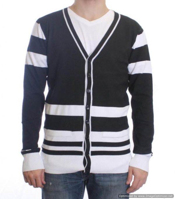 Black/White Varsity Cardigan