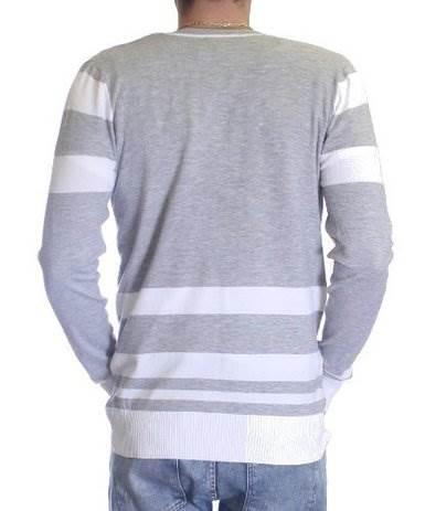 L.Grey/White Melange Varsity Cardigan