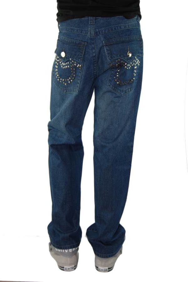 Tough Rebel Straight Leg Denim Jeans - Dark Blue