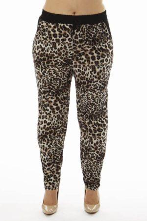 Brown Leopard Print Plus Size Soft Pants