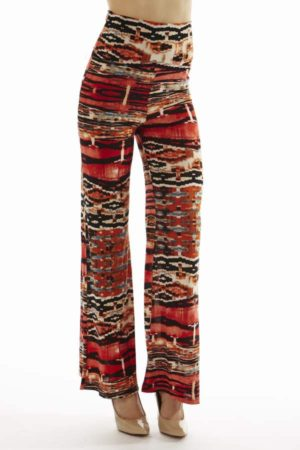 High Waist Ruby Egyptian Palazzo Pants
