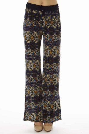 Kaleidoscope Print Purple Palazzo Pants