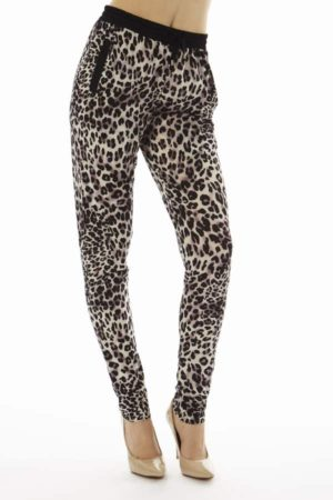Purple Highlighted Leopard Print Joggers