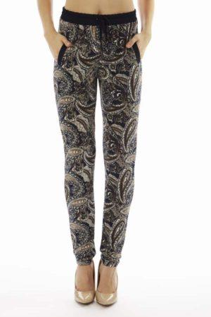 Midnight Paisley Print Jogger Pants