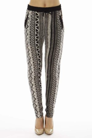 Dark Native Tribal Print Joggers