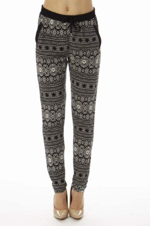 Indigenous Tribal Geometric Pattern Soft Pants