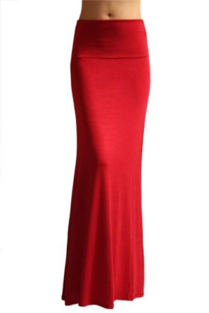 Fold Over Ruby Maxi Skirt