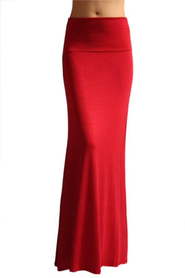 Fold Over Ruby Maxi Skirt