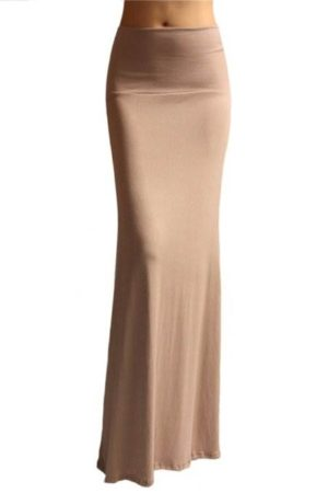 Classy Taupe Skirt