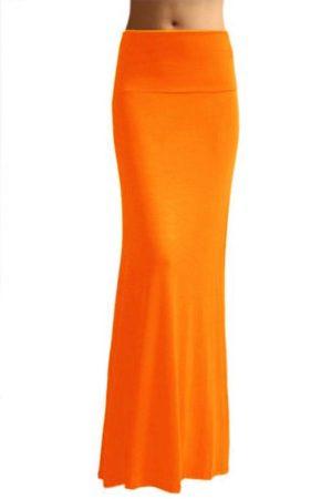 Full-Length Orange Skirt