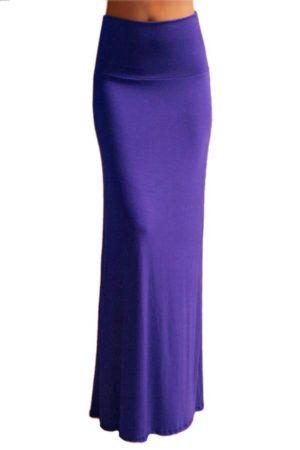 Full-length Purple Maxi Skirt