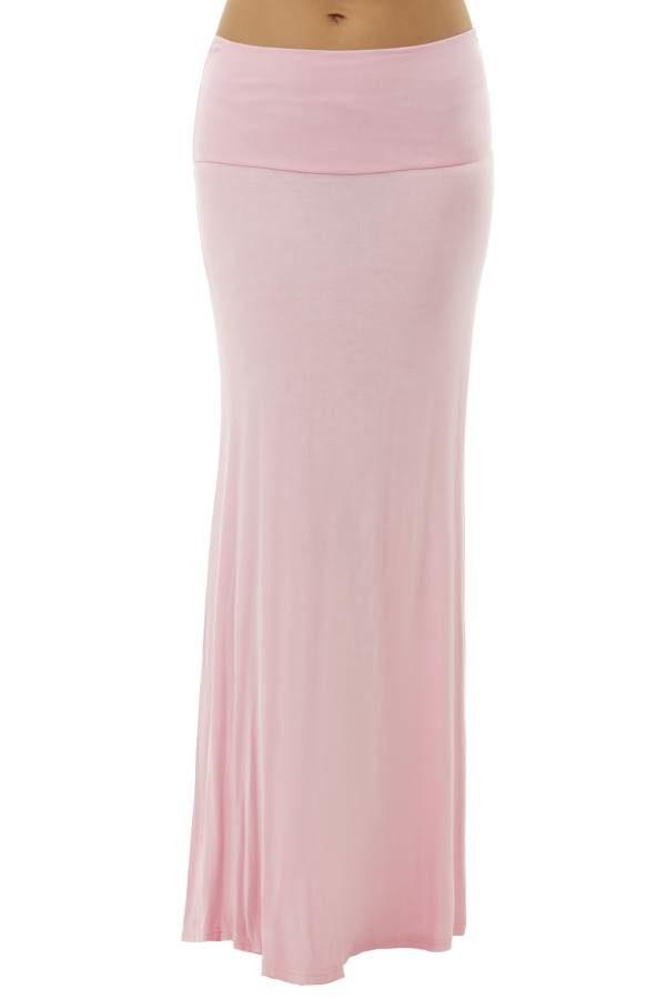 Classy Blush Pink Maxi Skirt