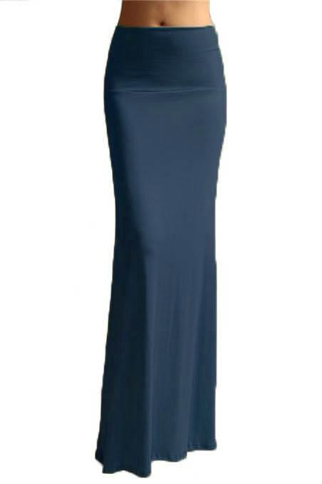 Vibrant Royal Blue Maxi Skirt