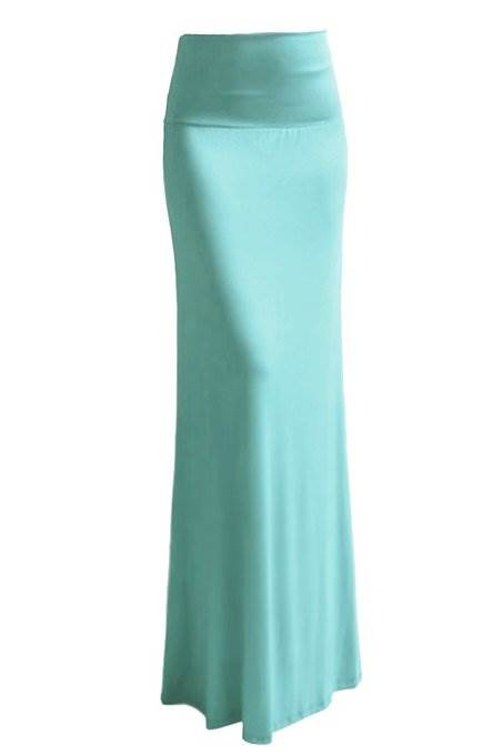 Bright Sky Colored Maxi Skirt