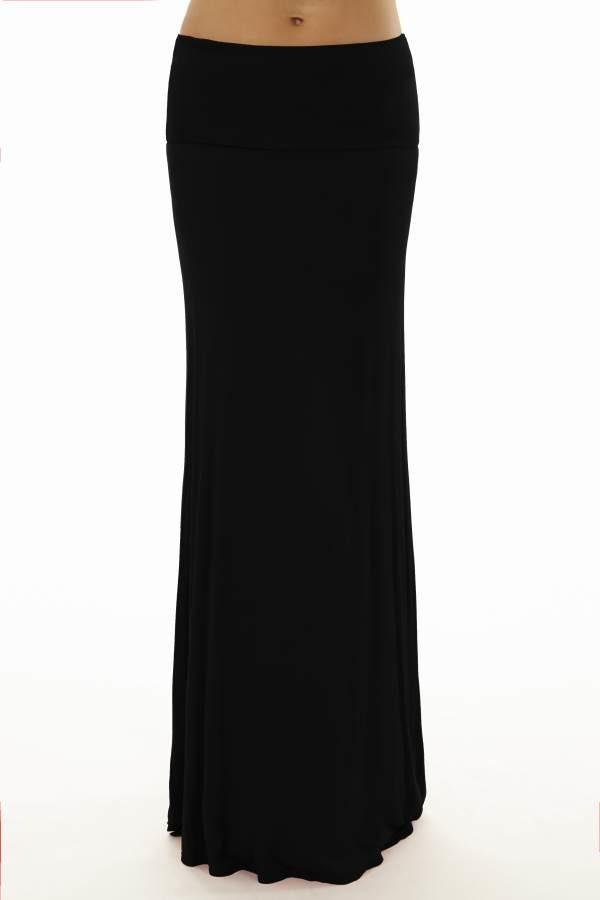 Dark Black Maxi Skirt