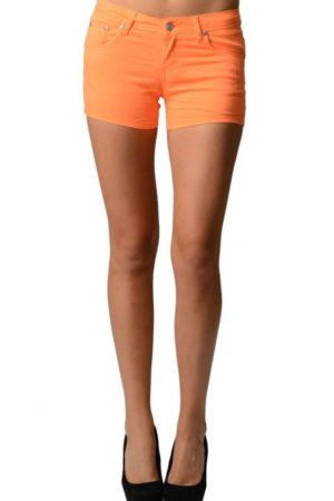 Slim Orange Neon Shorts