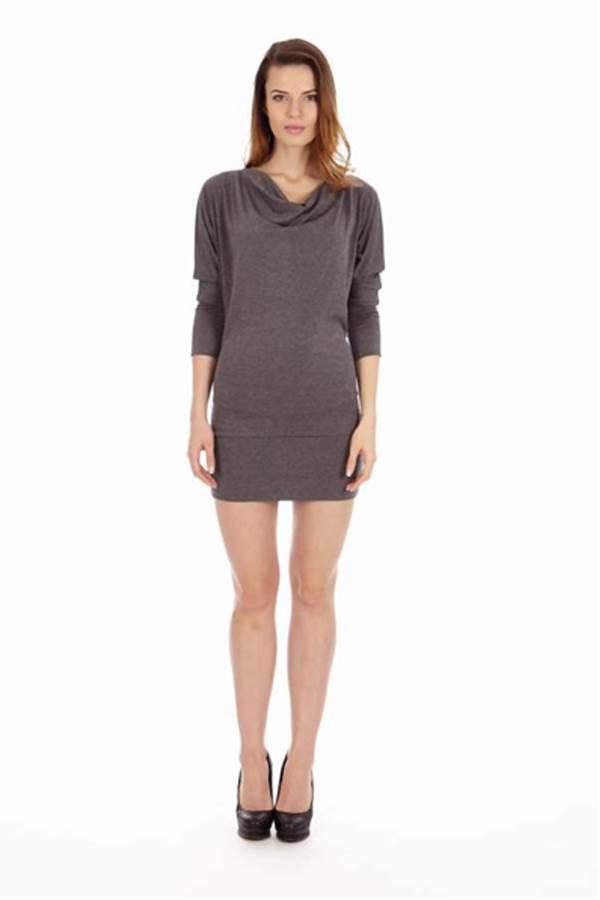 Slimming Dark Grey Dress