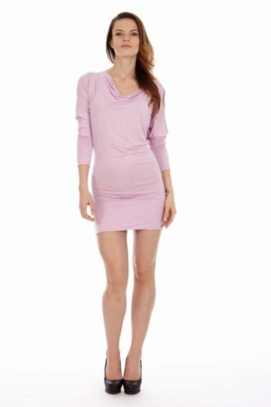 Hourglass Shape Pink Dress