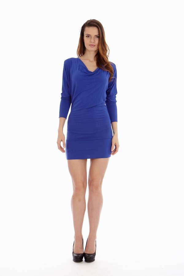 Slimming Royal Blue Dress