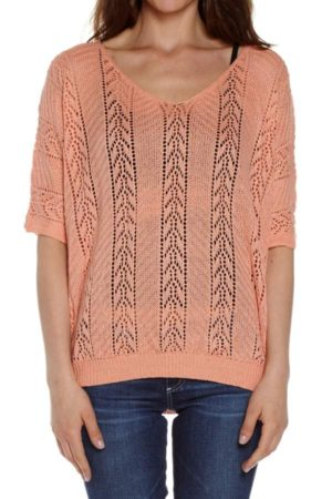 Peach Knited Pullover
