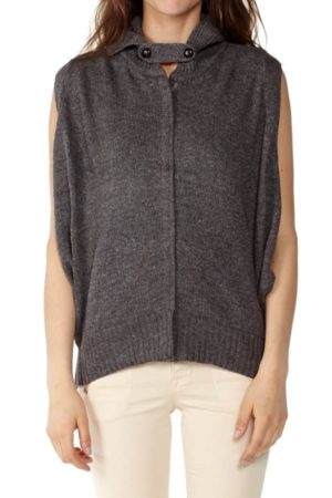Knitted Dark Grey Cardigan