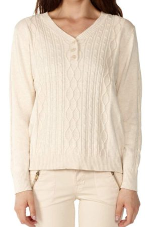 Sandy Pointelle Knit Sweater