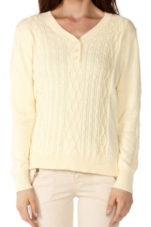 Knit Yellow Pointelle Sweater