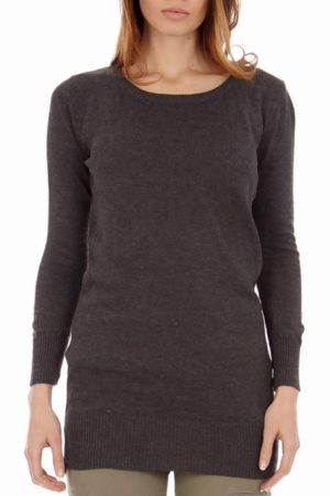 Crew Neck Dark Grey Tight Long Sleeve Top