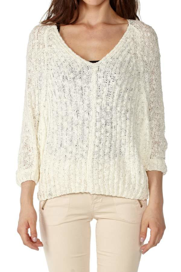 Knit White Pullover