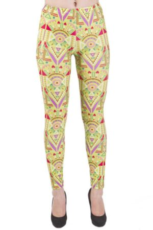 Lime Funky African Print Leggings