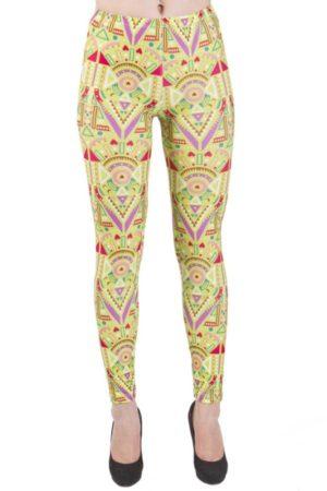 Lime Funky African Print Leggings