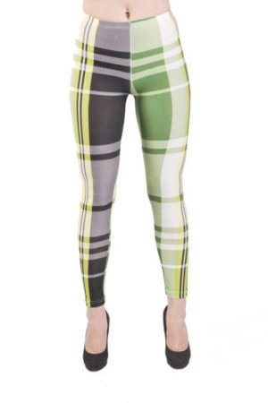 Lime Plaid Microfiber Leggings
