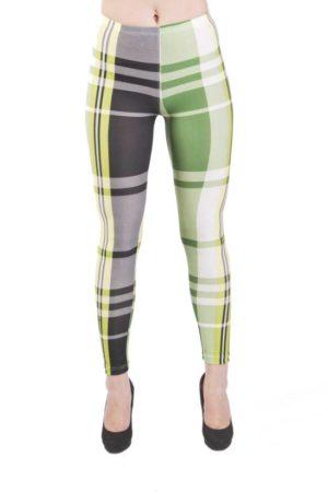 Lime Plaid Microfiber Leggings