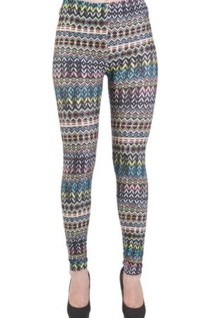 Ankle Length Tribal Microfiber Leggings