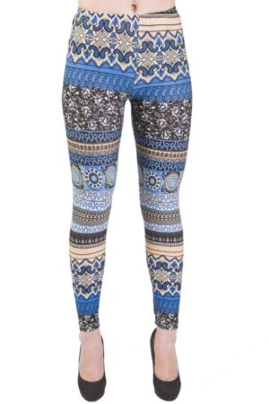 Paisley Ocean Sea Floor Leggings